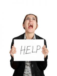 Frustrated-Woman-with-Help-Sign